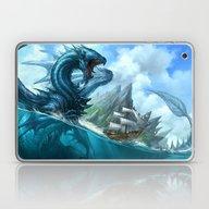 Laptop & iPad Skin featuring Blue Dragon by Sandara