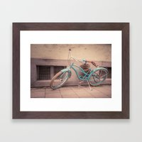 modern retro Framed Art Print