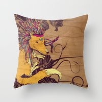 Spirit Happy Fox Throw Pillow
