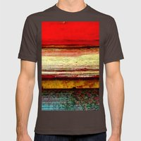Sunset in Bali Mens Fitted Tee Brown SMALL