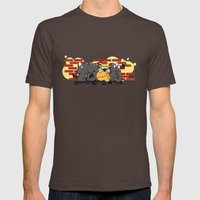 FAYS Mens Fitted Tee Brown SMALL