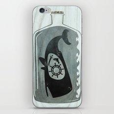 Whale in a Bottle   Ship's Wheel iPhone & iPod Skin