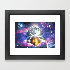 Man is the Moon Framed Art Print