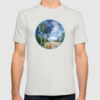 Country Road Mens Fitted Tee Silver SMALL