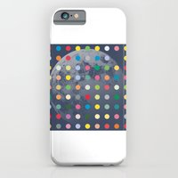 Blue Moon With Multi-Coloured Dots iPhone 6 Slim Case