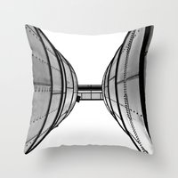 Industrial view up Throw Pillow