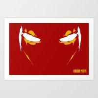 Iron Man Eyes Art Print