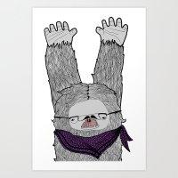 Trendi Yeti Art Print
