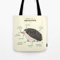 Anatomy of a Hedgehog Tote Bag