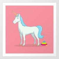 Unicorn Poop Art Print