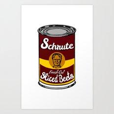 Schrute Fresh Cut Sliced Beets  |  Dwight Schrute  |  The Office Art Print