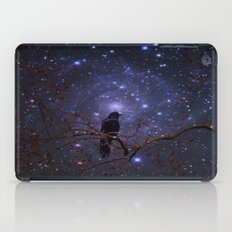 Black crow in moonlight iPad Case