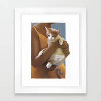 Kitten, Defeeted Framed Art Print