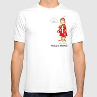 Peace Mong Mens Fitted Tee White SMALL