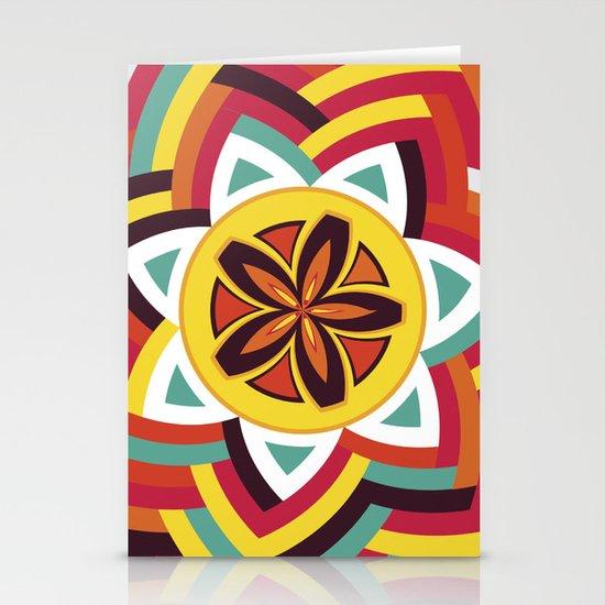 Mandala Love Pattern Stationery Card