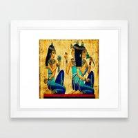 Egyptian Women Framed Art Print