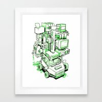 Green Machine Car Framed Art Print