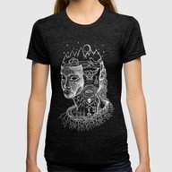 Secrets Of Your Skull Womens Fitted Tee Tri-Black SMALL
