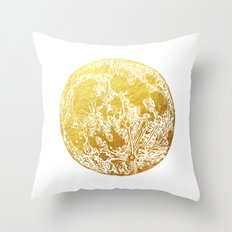 La Luna Moon Print Throw Pillow
