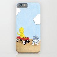 SW Kids - C3PO & R2D2 Red Wagon iPhone 6 Slim Case