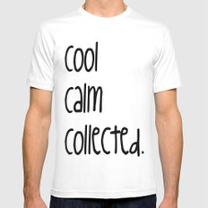 cool,calm,collected SMALL White Mens Fitted Tee