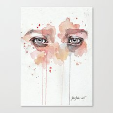 Missing you, watercolor eye study Canvas Print