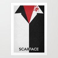 Scarface - Minimal Poster 01 Art Print