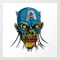 Zombie America Art Print