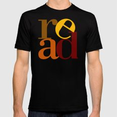 read love SMALL Black Mens Fitted Tee