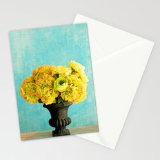 Flower in blue room Stationery Cards