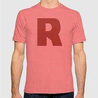 R is for... Mens Fitted Tee Pomegranate SMALL