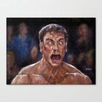 JCVD Screaming His F--ki… Canvas Print