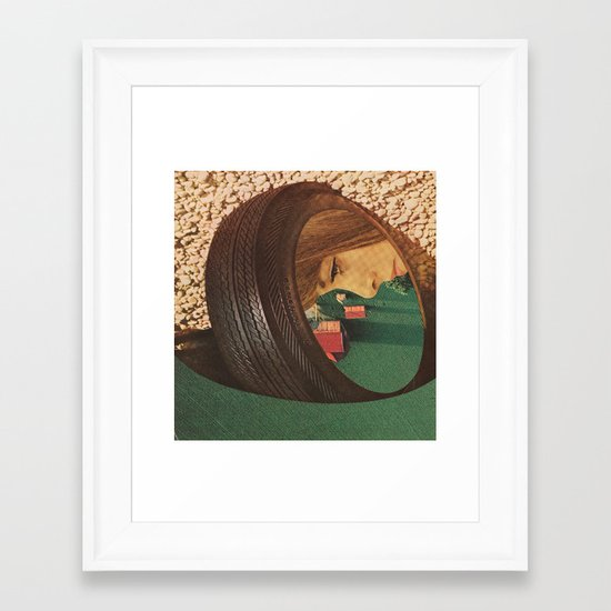 You may never change tires again... (2) Framed Art Print