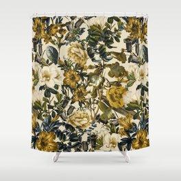 Shower Curtain - Warm Winter Garden - Burcu Korkmazyurek