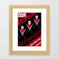 Autobahn--East German Tour 1982 Framed Art Print
