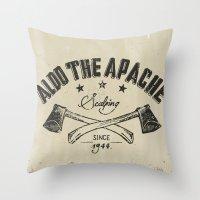 Aldo The Apache Throw Pillow