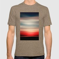 Red White And Blue Mens Fitted Tee Tri-Coffee SMALL