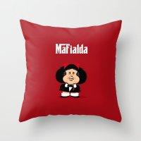 Coupling Up Mafialda Throw Pillow