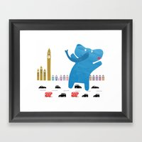 An Enormous Elephant Enj… Framed Art Print