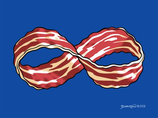 Infinite Bacon Canvas Print