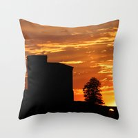 Castle Sunset  - JUSTART © Throw Pillow