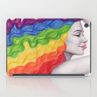 Rainbow Locks iPad Case