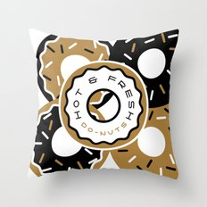 Hot and Fresh Donuts Throw Pillow