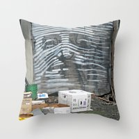 Alley Face Throw Pillow