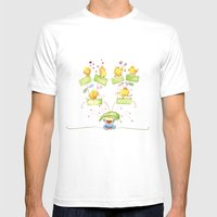 Baby family tree Mens Fitted Tee White SMALL