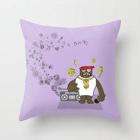 Gangst@#Rap Throw Pillow