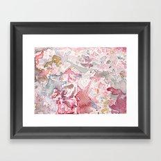 Pink Watercolor Framed Art Print