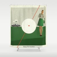 Blame The Sunshine | Collage Shower Curtain
