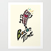Bacon Time Art Print
