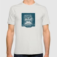 Gorilla Mens Fitted Tee Silver SMALL